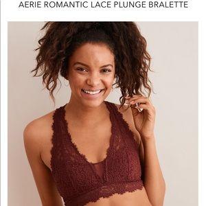 NWT Aerie Romantic Lace Plunge Bralette